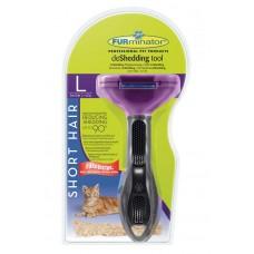 FURminator L за големи котки с къса козина