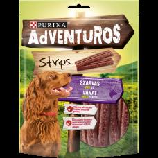 PURINA® ADVENTUROS ® Strips Лакомство за кучета в зряла възраст,Еленско, 90гр.