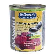 Dr.Clauder Selected Meat Pro Hair Skin Truthahn Kartoffel - пуешко и картофи за кученца с проблемна кожа и козина 800гр