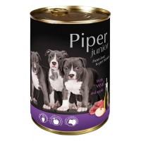 Piper Junior - Премиум консервирана храна за малки кученца до 1 година с телешко и ябълка - 400 гр.
