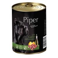 Piper Adult - Премиум консервирана храна за кучета над 1 година с дивеч и тиква - 400 гр.