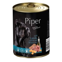 Piper Adult - Премиум консервирана храна за кучета над 1 година с агне, морков и кафяв ориз - 400 гр.
