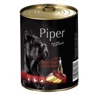 Piper Adult - Премиум консервирана храна за кучета над 1 година с телешки дроб и картофи - 400 гр.