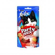 PURINA® FELIX® PARTY MIX лакомство за котки в зряла възраст,Микс Грил, 60 гр.