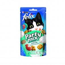 PURINA® FELIX® PARTY MIX лакомство за котки в зряла възраст,Микс Риба,60 гр.