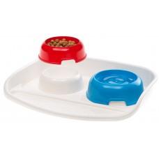 Ferplast Lindo - Комплект купички за храна и вода с подложка 300 + 300 мл.