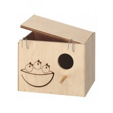 Ferplast  Nido Nest Large дървена къщичка - гнездилка за птици