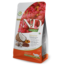 N&D CAT QUINOA SKIN&COAT ХЕРИНГА 1.5 KG