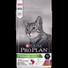 PURINA® PRO PLAN Cat Adult STERILISED, кастрирани,Патица и дроб, суха, 1,5 кг.