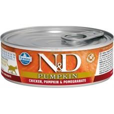 N&D Cat Chicken & Pumpkin & Pomegrante - с пилешко месо, тиква и нар 80 гр.