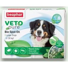 Beaphar Bio Spоt On Dog - едри породи, 3 броя, репелентни капки