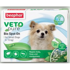 Beaphar Bio Spоt On Dog - дребни породи, 3 броя, репелентни капки