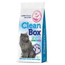 CLEAN BOX Compact бебешка пудра, постелка за кот.тоалетна 5кг, фин бял бентонит