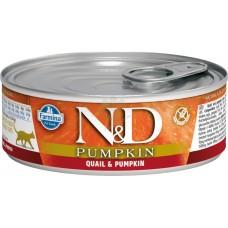 N&D Cat Qual & Pumpkin - с месо от пъдпъдък и тиква 80 гр.