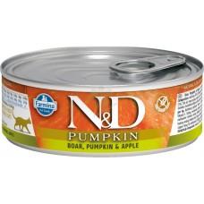 N&D Cat Boar & Pumpkin & Apple - с месо от глиган, тиква и ябълка 80 гр.