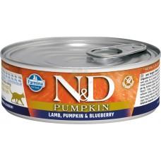 N&D Cat Lamb & Pumpkin & Blueberry - с агнешко месо, тиква и боровинки 80 гр.