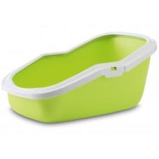 """Котешка тоалетна """"Aseo"""" 56х39х27.5 с борд, зелена лайм"""