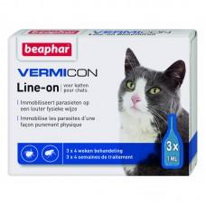 Beaphar Vermicon Line-on - спот он с Диметикон,  без инсектицид / 3 броя