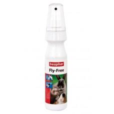 Beaphar Fly Free 150мл - противопаразитен спрей против бълхи, въшки, всякакви мухи, кърлежи
