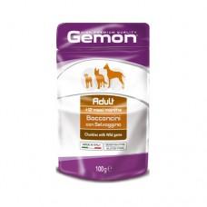 GEMON Adult Пауч хапки 100гр.– за кучета в зряла възраст с дивеч