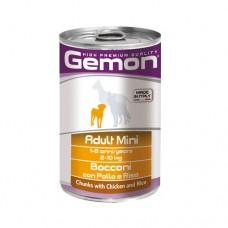 GEMON DOG Консерва хапки Adult Mini chicken&rice 415 гр. – за дребни породи в зряла възраст с пилешко и ориз