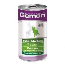 GEMON DOG Консерва хапки Adult lamb&rice 1,25кг. – за кучета в зряла възраст с агнешко и ориз