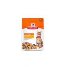 Hill's Science Plan™ Feline Adult CHICKEN – паучове с пилешко - малки късчета в сос Грейви за котки над 1 година.